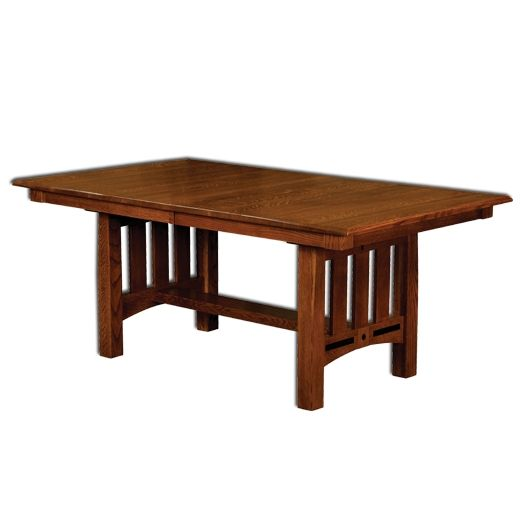 Amish USA Made Handcrafted Lavega Trestle Table sold by Online Amish Furniture LLC