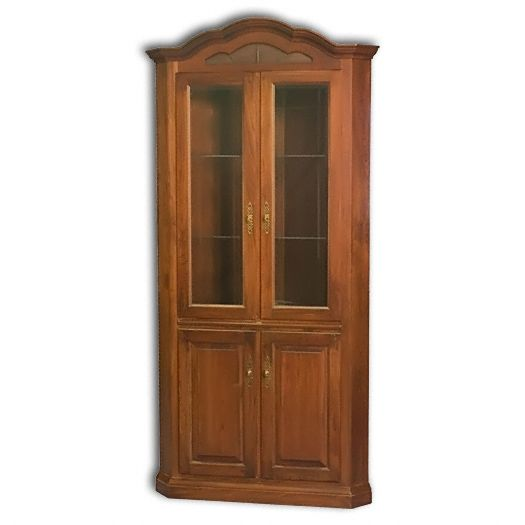 Amish USA Made Handcrafted Legacy Corner Hutch sold by Online Amish Furniture LLC