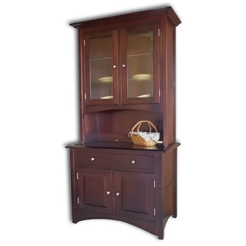 Amish USA Made Handcrafted Lexington Hutch sold by Online Amish Furniture LLC