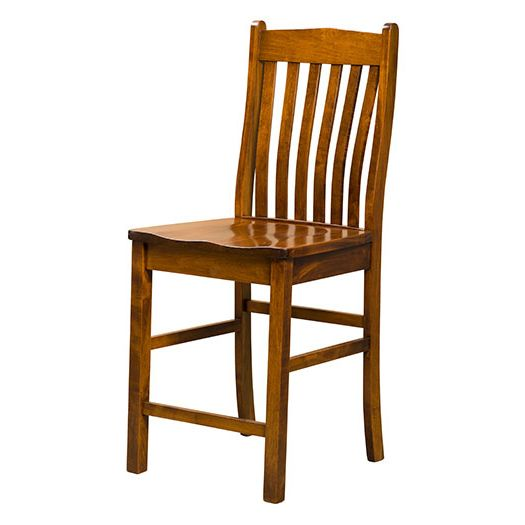 Amish USA Made Handcrafted Liberty Bar Stool sold by Online Amish Furniture LLC