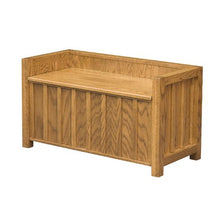 Load image into Gallery viewer, Amish USA Made Handcrafted Mission Lift Lid Bench sold by Online Amish Furniture LLC