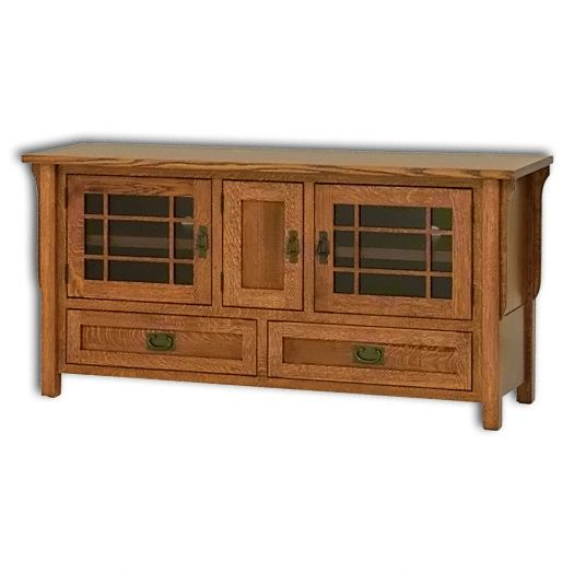 Amish USA Made Handcrafted Landmark 60 TV Stand sold by Online Amish Furniture LLC