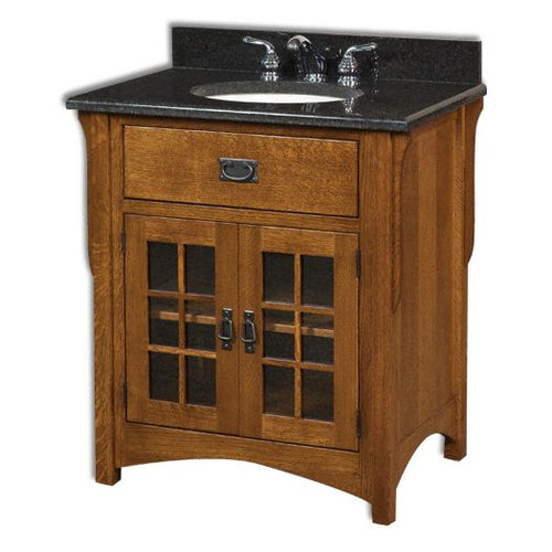 Amish USA Made Handcrafted Landmark 33 Vanity sold by Online Amish Furniture LLC