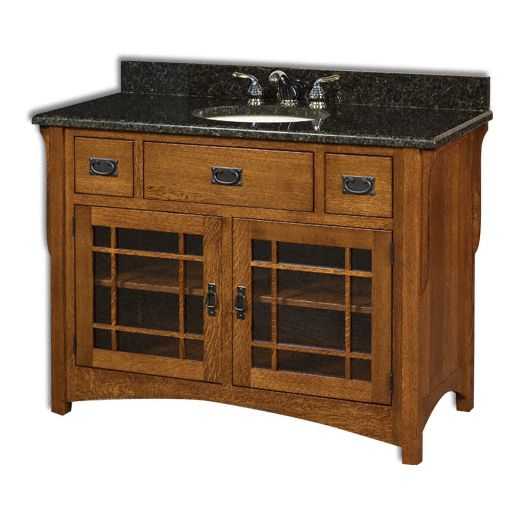 Amish USA Made Handcrafted Landmark 49 Vanity sold by Online Amish Furniture LLC