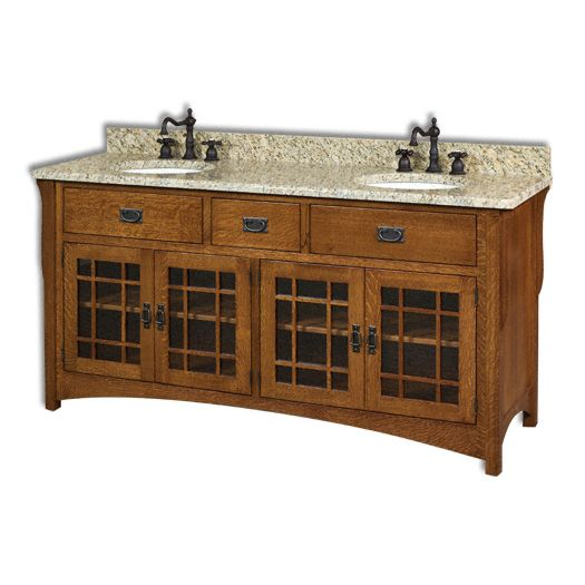 Amish USA Made Handcrafted Landmark 72 Vanity sold by Online Amish Furniture LLC