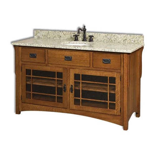 Amish USA Made Handcrafted Landmark 60 Vanity sold by Online Amish Furniture LLC