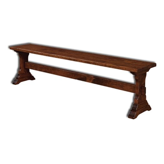 Amish USA Made Handcrafted Manchester Bench sold by Online Amish Furniture LLC