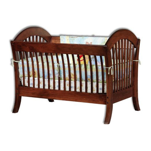Amish USA Made Handcrafted Manhattan Conversion Crib sold by Online Amish Furniture LLC
