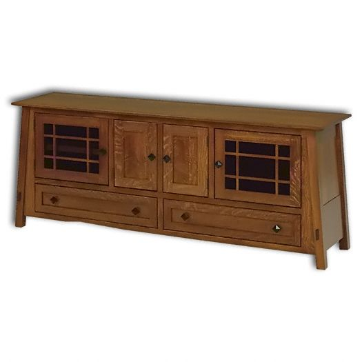 Amish USA Made Handcrafted McCoy 72 TV Cabinet sold by Online Amish Furniture LLC
