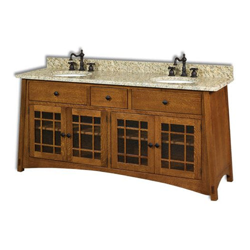 Amish USA Made Handcrafted McCoy 72 Vanity sold by Online Amish Furniture LLC