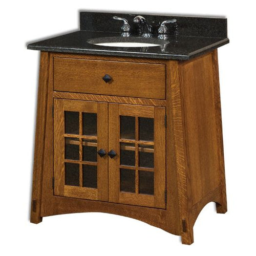 Amish USA Made Handcrafted McCoy 33 Vanity sold by Online Amish Furniture LLC