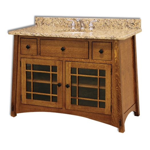 Amish USA Made Handcrafted McCoy 49 Vanity sold by Online Amish Furniture LLC