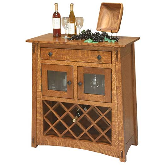 Amish USA Made Handcrafted Mccoy Wine Server sold by Online Amish Furniture LLC