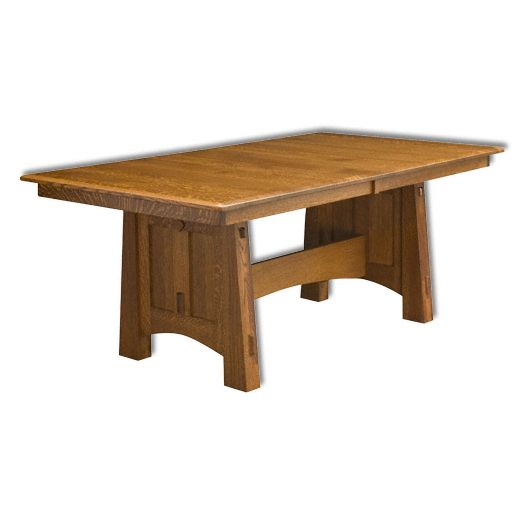 Amish USA Made Handcrafted McCoy Trestle Table sold by Online Amish Furniture LLC