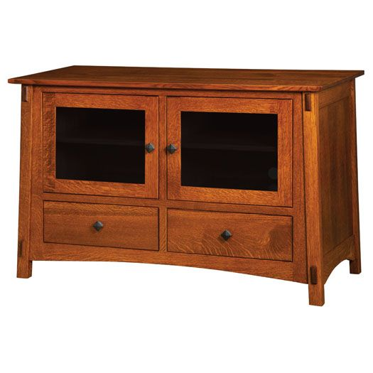 Amish USA Made Handcrafted Mccoy Plasma TV Stands sold by Online Amish Furniture LLC