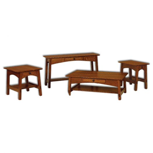 Amish USA Made Handcrafted McCoy Open Occasional Tables sold by Online Amish Furniture LLC