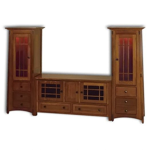 Amish USA Made Handcrafted McCoy TV Unit sold by Online Amish Furniture LLC