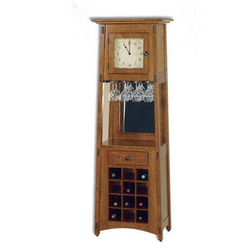 Amish USA Made Handcrafted McCoy Wine Rack Clock sold by Online Amish Furniture LLC
