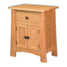 Load image into Gallery viewer, Amish USA Made Handcrafted Modesto 2 Door 1 Drawer Nightstand sold by Online Amish Furniture LLC