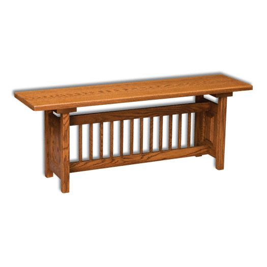 Classic Mission Trestle Bench