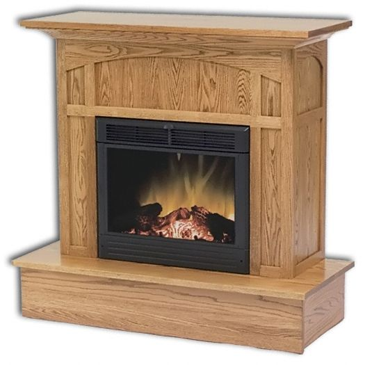 Amish USA Made Handcrafted Mission Electric Fireplace sold by Online Amish Furniture LLC
