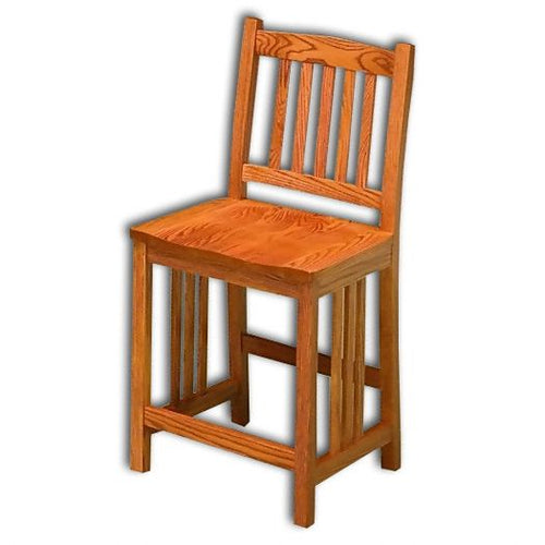 Amish USA Made Handcrafted Mission Barstool sold by Online Amish Furniture LLC