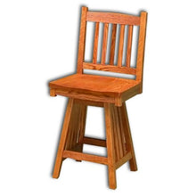 Load image into Gallery viewer, Amish USA Made Handcrafted Mission Barstool sold by Online Amish Furniture LLC