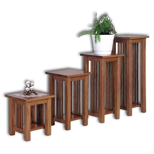 Amish USA Made Handcrafted Landmark Mission Plant Stand sold by Online Amish Furniture LLC