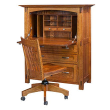 Load image into Gallery viewer, Amish USA Made Handcrafted Modesto Secretary Desk sold by Online Amish Furniture LLC