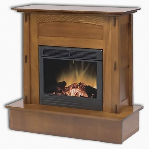 Amish USA Made Handcrafted Modesto Electric Fireplace sold by Online Amish Furniture LLC