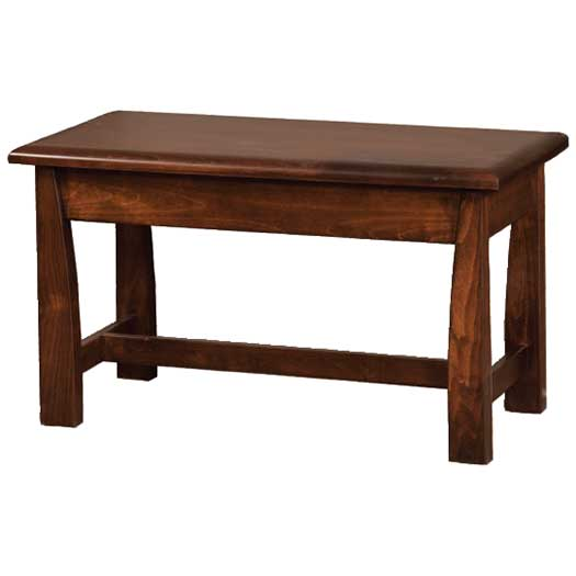 Amish USA Made Handcrafted Mondovi Bedside Bench sold by Online Amish Furniture LLC