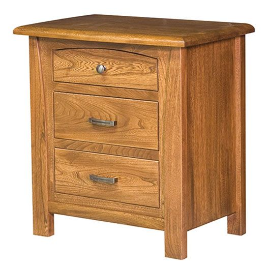 Amish USA Made Handcrafted Mondovi 3 Drawer Night Stand sold by Online Amish Furniture LLC