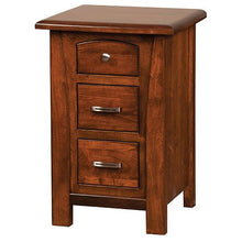 Load image into Gallery viewer, Amish USA Made Handcrafted Mondovi 3 Drawer Night Stand sold by Online Amish Furniture LLC