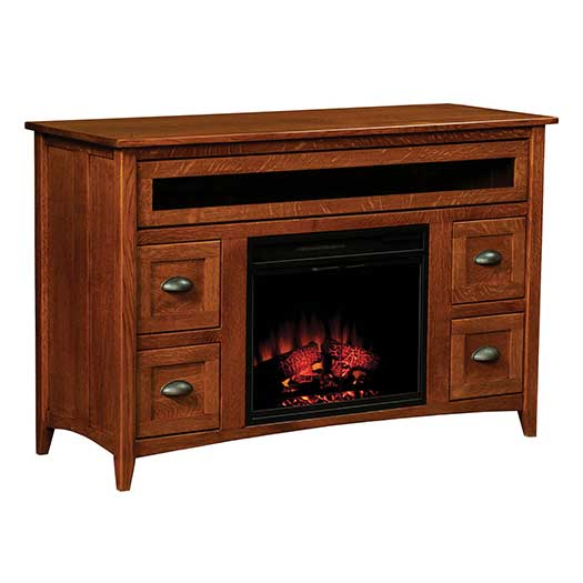 Amish USA Made Handcrafted Monroe Fireplace sold by Online Amish Furniture LLC