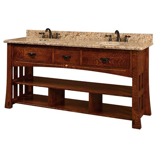 Amish USA Made Handcrafted Mesa 72 Vanity sold by Online Amish Furniture LLC