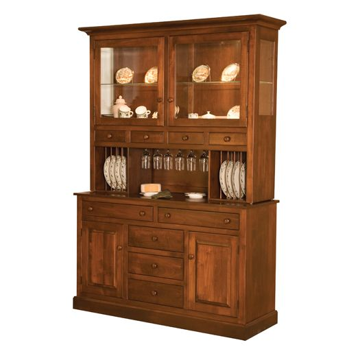 Amish USA Made Handcrafted Munford Hutch sold by Online Amish Furniture LLC
