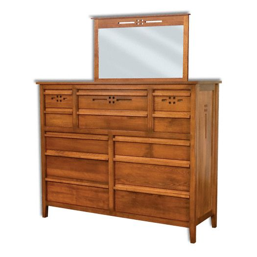 Amish USA Made Handcrafted West Village Dresser 12 Drawer sold by Online Amish Furniture LLC