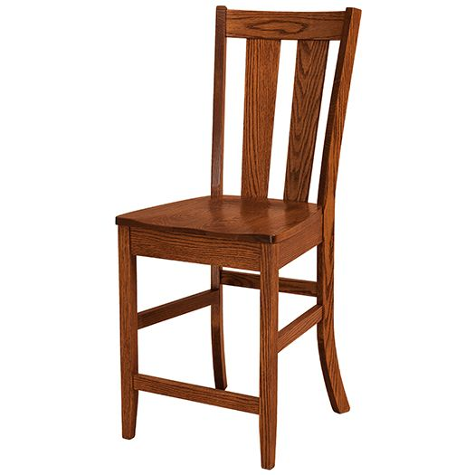 Amish USA Made Handcrafted Newberry Bar Stool sold by Online Amish Furniture LLC