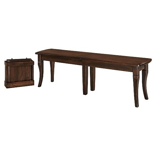 Amish USA Made Handcrafted Newbury Extenda Bench sold by Online Amish Furniture LLC