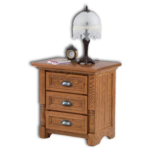 Amish USA Made Handcrafted Palisade 3-Drawer Nightstand sold by Online Amish Furniture LLC