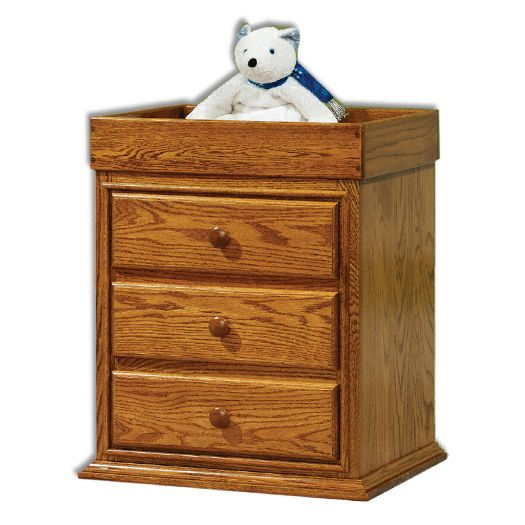 Amish USA Made Handcrafted Traditional Nightstand with Changing Table sold by Online Amish Furniture LLC