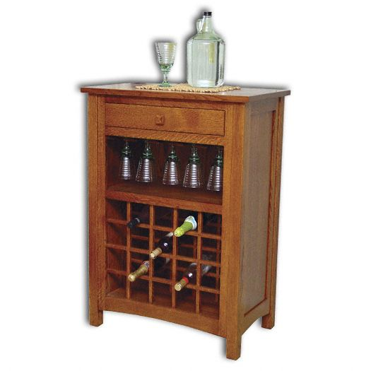 Amish USA Made Handcrafted Noble Wine Rack sold by Online Amish Furniture LLC