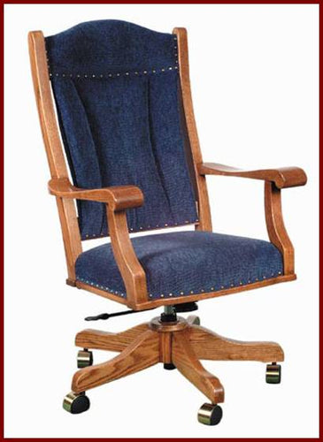 Amish USA Made Handcrafted Office Desk Chair sold by Online Amish Furniture LLC