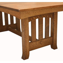 Load image into Gallery viewer, Amish USA Made Handcrafted Old Century Trestle Table sold by Online Amish Furniture LLC