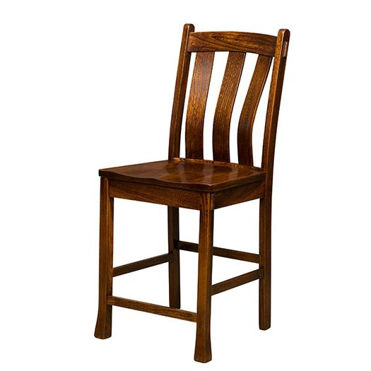 Amish USA Made Handcrafted Olde Century Bar Stool sold by Online Amish Furniture LLC