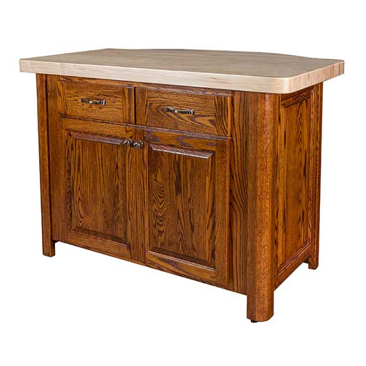 Amish USA Made Handcrafted Palisade Kitchen Island sold by Online Amish Furniture LLC