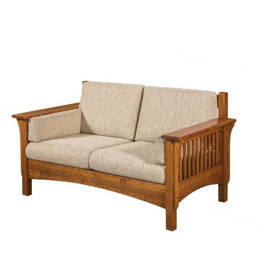 Amish USA Made Handcrafted Pioneer Loveseat sold by Online Amish Furniture LLC
