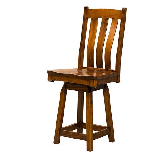 Amish USA Made Handcrafted Preston Bar Stool sold by Online Amish Furniture LLC