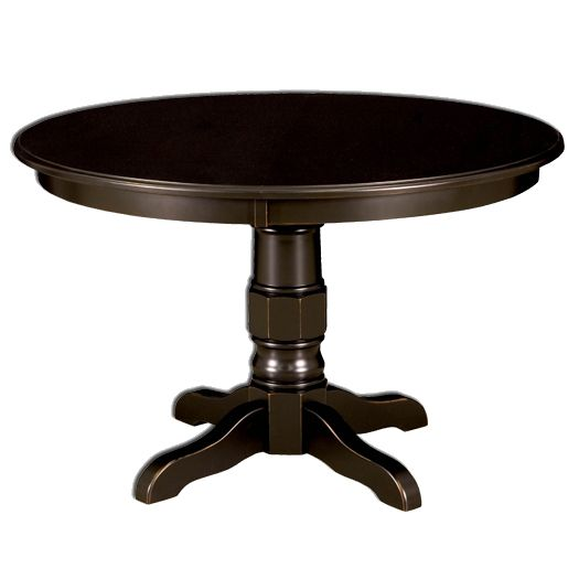 Amish USA Made Handcrafted Preston Single Pedestal Table sold by Online Amish Furniture LLC