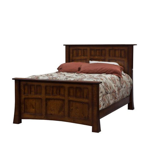 Amish USA Made Handcrafted Princeton Bed sold by Online Amish Furniture LLC